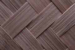 Textura de ofícios tecidos de bambu tradicionais de Indonésia fotografia de stock