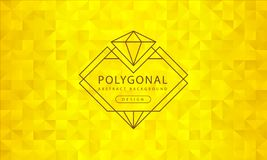 Textura de oro poligonal del fondo del extracto, haber texturizado de oro, fondos del polígono de la bandera, ejemplo del vector ilustración del vector