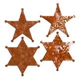 Textura de oxidação da estrela oxidada do crachá do xerife ilustração royalty free