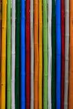 Textura de palillos de bambú teñidos Imágenes de archivo libres de regalías
