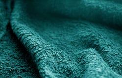 Textura de pano de saco com efeito do borrão na cor ciana imagem de stock