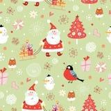 Textura de Papá Noel con los regalos Imagen de archivo libre de regalías