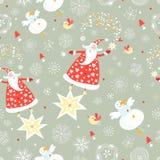 A textura de Papai Noel ilustração royalty free