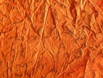Textura de papel alaranjada fotos de stock