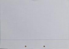 Textura de papel alinhada quadrado perfurada Foto de Stock Royalty Free