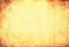 Textura de papel amarilla sucia Fotografía de archivo libre de regalías