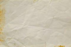 Textura de papel amarrotada Fotos de Stock