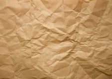 Textura de papel amarrotada Fotos de Stock Royalty Free