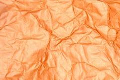 Textura de papel amarrotada Fotografia de Stock
