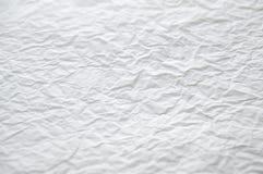 Textura de papel amarrotada branca Fotografia de Stock