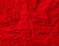 Textura de papel amarrotada vermelho Imagens de Stock Royalty Free