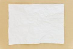 Textura de papel arrugada fotografía de archivo