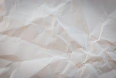 Textura de papel arrugada blanca del fondo Fotos de archivo