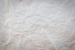 Textura de papel arrugada blanca del fondo Foto de archivo libre de regalías