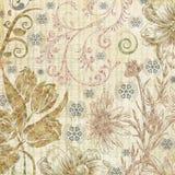 Textura de papel botânica decorativa Fotografia de Stock