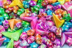 Textura de papel colorida do fundo da estrela Imagens de Stock