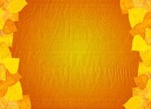 Textura de papel con las hojas de otoño Fotos de archivo