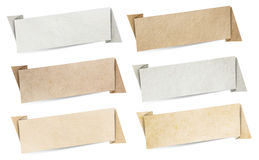 Textura de papel das bandeiras do discurso de Origami Fotos de Stock Royalty Free