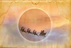 Textura de papel de Grunge con santa Imagen de archivo libre de regalías