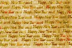 Textura de papel de la Feliz Año Nuevo 2016 del texto Imagen de archivo libre de regalías