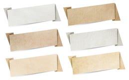 Textura de papel de las banderas del discurso de Origami Fotos de archivo libres de regalías