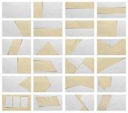 Textura de papel del fondo de las plantillas de la presentación Fotos de archivo