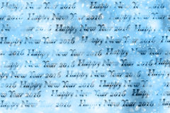 Textura de papel do ano novo feliz 2016 do texto Fotos de Stock