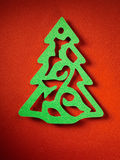 Textura de papel do fundo do Natal, tema do papercraft Fotografia de Stock Royalty Free