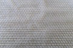 Textura de papel do invólucro com bolhas de ar Fotos de Stock