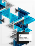 Textura de papel do teste padrão do triângulo do estilo da arte, fundo abstrato Imagens de Stock Royalty Free