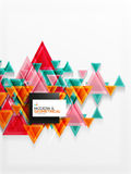 Textura de papel do teste padrão do triângulo do estilo da arte, fundo abstrato Fotos de Stock