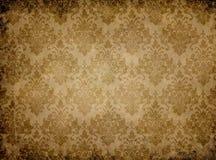 Textura de papel do vintage com testes padrões florais Imagem de Stock