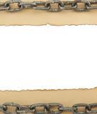 Textura de papel envelhecida no branco Imagem de Stock
