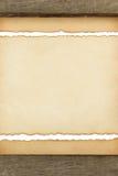 Textura de papel envelhecida no branco Foto de Stock
