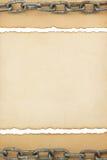 Textura de papel envelhecida no branco Fotos de Stock Royalty Free