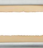Textura de papel envelhecida no branco Imagem de Stock Royalty Free