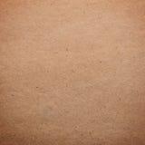 Textura de papel - hoja del papel marrón Fotografía de archivo