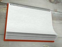 Textura de papel no calendário de parede em branco Fotos de Stock Royalty Free