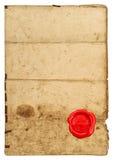 A textura de papel usada afia selo de papel gasto do vermelho da folha Imagem de Stock