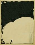 Textura de papel velha com elememts decorativos Foto de Stock Royalty Free