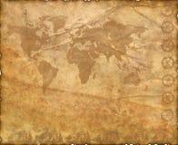 Textura de papel velha com elementos decorativos Foto de Stock