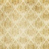 Textura de papel velha com testes padrões florais para o fundo Imagem de Stock