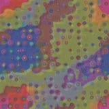 Textura de papel velha sem emenda com às bolinhas coloridos Foto de Stock Royalty Free