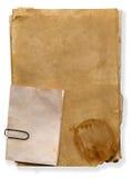 Textura de papeles viejos Fotografía de archivo libre de regalías