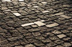Textura de pavimentadoras viejas en Kiev Imagenes de archivo