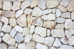 Textura de pedra branca do fundo do cascalho textura de pedra branca vazia Foto de Stock Royalty Free
