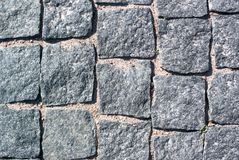Textura de pedra cinzenta da estrada Fotografia de Stock