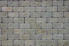 Textura de pedra cinzenta de pavimentar tijolos na estrada imagens de stock royalty free