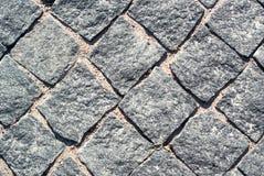 Textura de pedra da estrada Fotografia de Stock Royalty Free