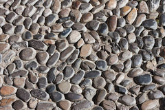 Textura de pedra da estrada dos seixos imagens de stock